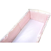 Aparatori laterale protectii laterale pat pufoase  h35cm Zig Zag roz