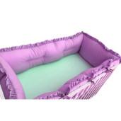 Set aparatori protectii laterale Super groase, pat 120x60 cm Deseda - Violet
