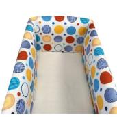 Aparatori laterale protectii pat 140x70 cm Deseda Maxi Cerculete colorate