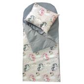 Sac de dormit buzunar de iarna 1-3 ani Deseda Unicorni cu gri