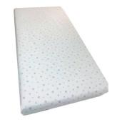 Cearsaf de pat cu elastic roata, imprimeu Stelute pe alb