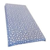 Cearsaf de pat cu elastic roata, imprimeu Stelute pe bleu