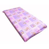Cearsaf de pat cu elastic roata, imprimeu Ursuleti pe roz